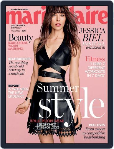 Marie Claire South Africa November 1st, 2017 Digital Back Issue Cover