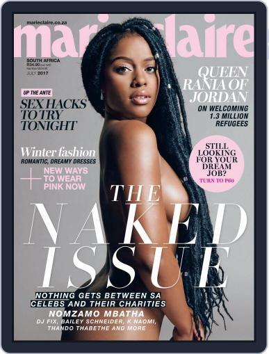 Marie Claire South Africa July 1st, 2017 Digital Back Issue Cover