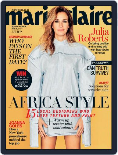 Marie Claire South Africa June 1st, 2017 Digital Back Issue Cover