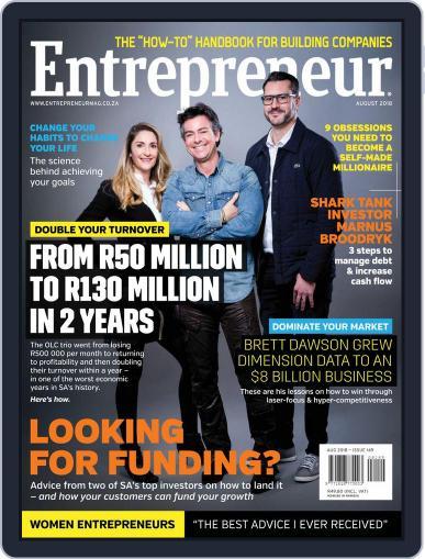Entrepreneur Magazine South Africa August 1st, 2018 Digital Back Issue Cover