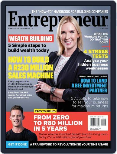 Entrepreneur Magazine South Africa June 1st, 2018 Digital Back Issue Cover
