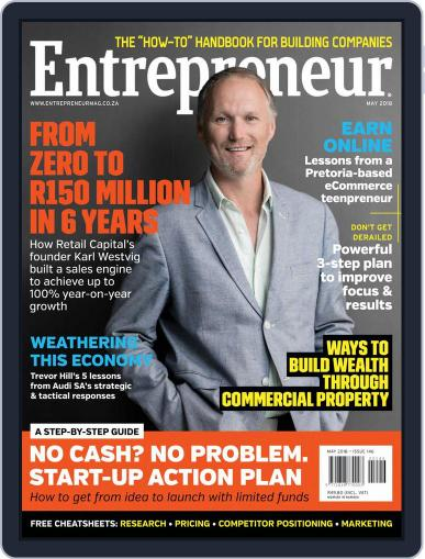 Entrepreneur Magazine South Africa May 1st, 2018 Digital Back Issue Cover