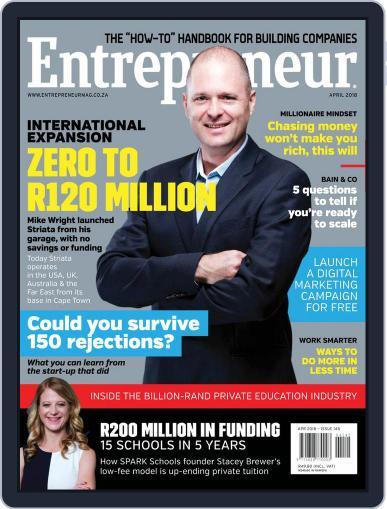 Entrepreneur Magazine South Africa April 1st, 2018 Digital Back Issue Cover