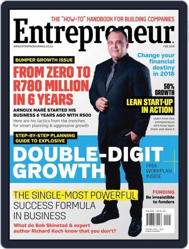 Entrepreneur Magazine South Africa February 1st, 2018 Digital Back Issue Cover