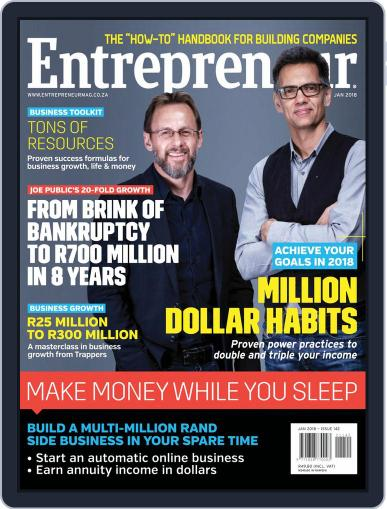 Entrepreneur Magazine South Africa January 1st, 2018 Digital Back Issue Cover