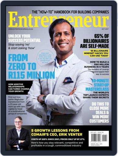 Entrepreneur Magazine South Africa October 1st, 2017 Digital Back Issue Cover