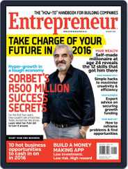Entrepreneur Magazine South Africa (Digital) Subscription January 1st, 2016 Issue