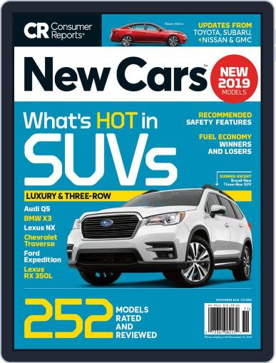 Consumer Reports New Cars November 1st, 2018 Digital Back Issue Cover