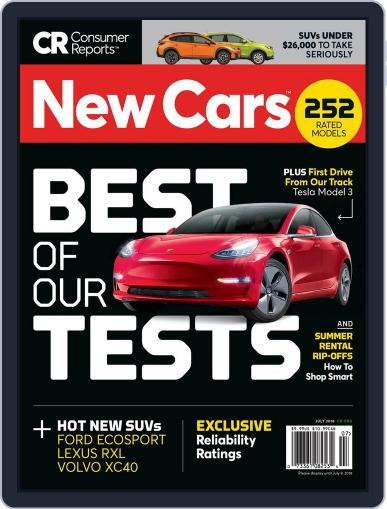Consumer Reports New Cars July 1st, 2018 Digital Back Issue Cover
