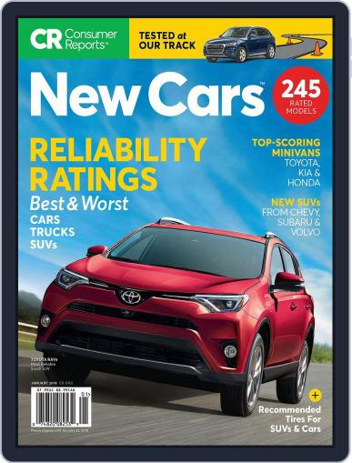 Consumer Reports New Cars January 22nd, 2018 Digital Back Issue Cover