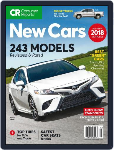 Consumer Reports New Cars November 1st, 2017 Digital Back Issue Cover