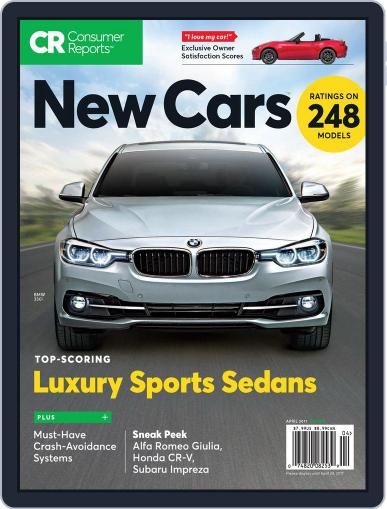 Consumer Reports New Cars April 1st, 2017 Digital Back Issue Cover