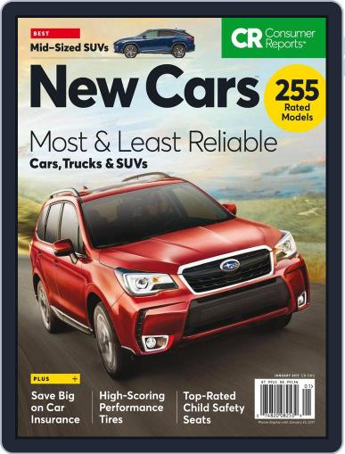 Consumer Reports New Cars January 1st, 2017 Digital Back Issue Cover