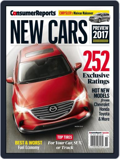 Consumer Reports New Cars August 23rd, 2016 Digital Back Issue Cover