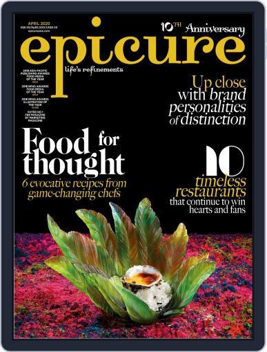 epicure April 1st, 2020 Digital Back Issue Cover