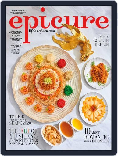 epicure January 1st, 2020 Digital Back Issue Cover