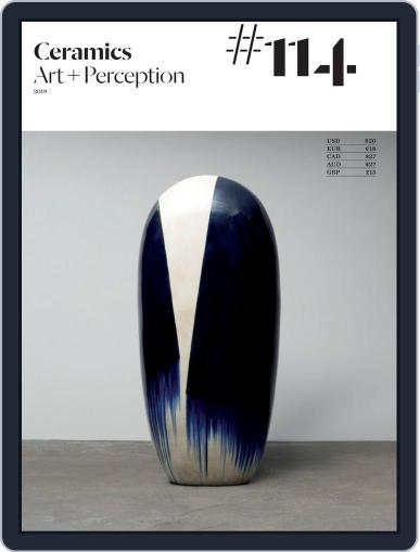 Ceramics: Art and Perception December 20th, 2019 Digital Back Issue Cover