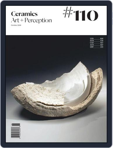 Ceramics: Art and Perception October 1st, 2018 Digital Back Issue Cover