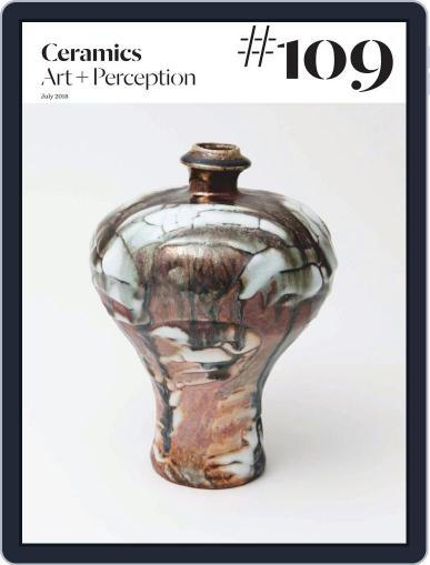 Ceramics: Art and Perception July 25th, 2018 Digital Back Issue Cover