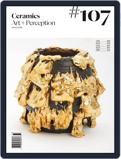 Ceramics: Art and Perception January 1st, 2018 Digital Back Issue Cover
