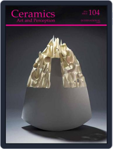 Ceramics: Art and Perception December 1st, 2016 Digital Back Issue Cover