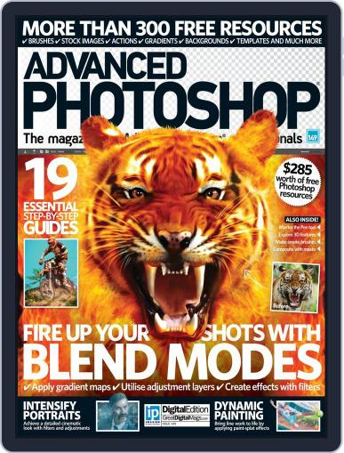 Advanced Photoshop June 23rd, 2016 Digital Back Issue Cover