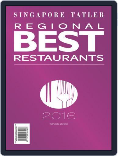 Singapore Tatler Regional Best Restaurants January 1st, 2016 Digital Back Issue Cover