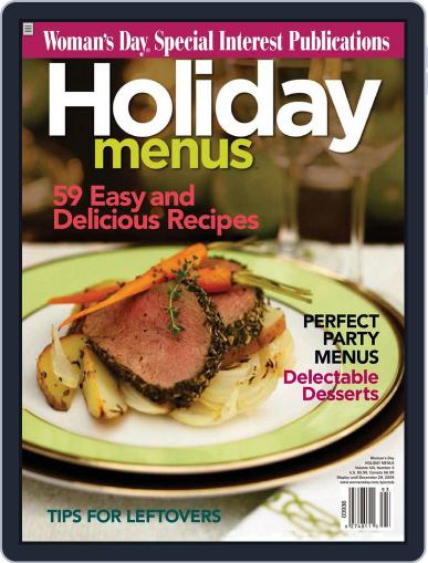 Holiday Menus October 27th, 2009 Digital Back Issue Cover
