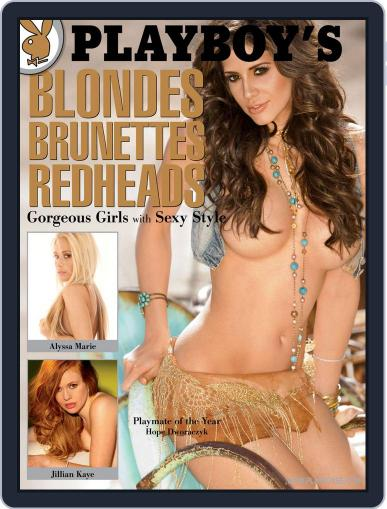 Playboy's Blondes, Brunettes, And Redheads January 1st, 2011 Digital Back Issue Cover