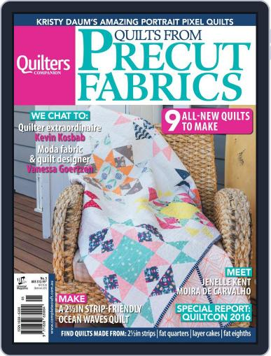 Quilts From Precut Fabrics June 1st, 2016 Digital Back Issue Cover