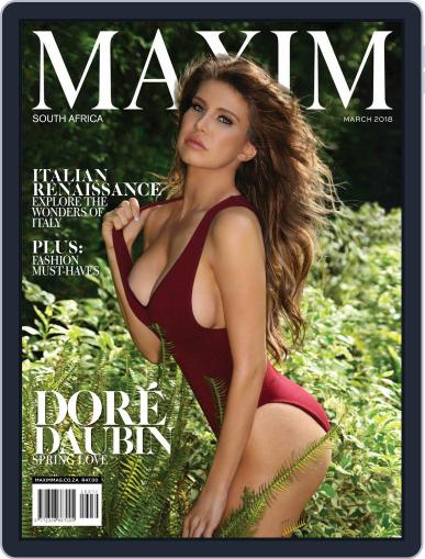 Maxim South Africa March 1st, 2018 Digital Back Issue Cover