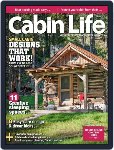 Cabin Living August 1st, 2015 Digital Back Issue Cover