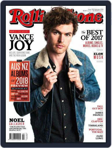 Rolling Stone Australia February 1st, 2018 Digital Back Issue Cover