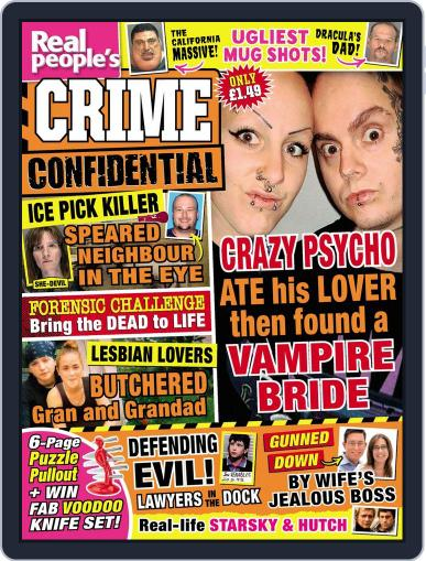 Real People's Crime Confidential June 23rd, 2015 Digital Back Issue Cover