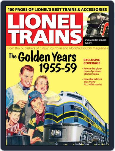 Lionel Trains: 1955-59 August 16th, 2013 Digital Back Issue Cover