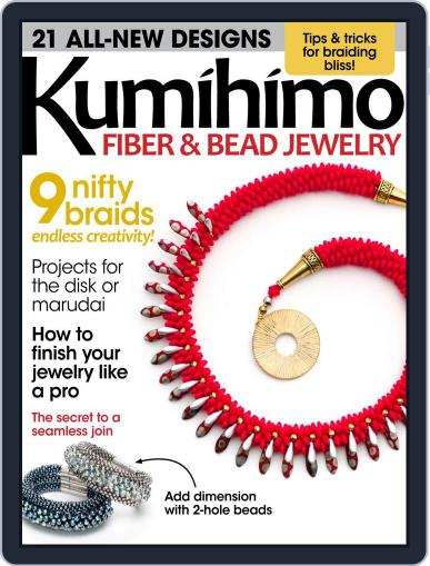 Kumihimo Fiber & Bead Jewelry April 1st, 2016 Digital Back Issue Cover
