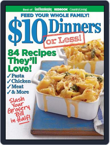 $10 DINNERS (OR LESS!) August 1st, 2012 Digital Back Issue Cover