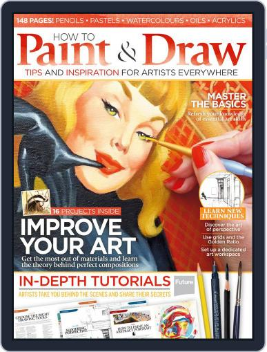 How to Paint and Draw August 1st, 2015 Digital Back Issue Cover