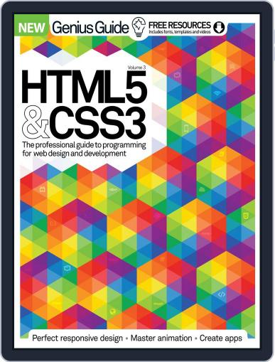 HTML 5 & CSS3 Genius Guide March 1st, 2016 Digital Back Issue Cover