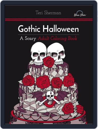 Gothic Halloween: A Scary Adult Coloring Book July 1st, 2016 Digital Back Issue Cover