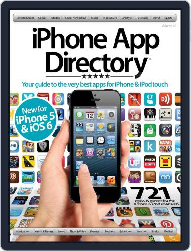iPhone App Directory Vol 10 October 1st, 2012 Digital Back Issue Cover