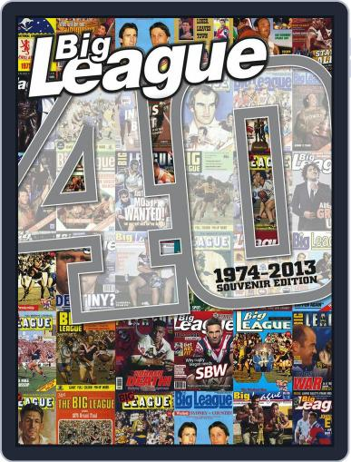 Big League magazine - 40 years special August 26th, 2013 Digital Back Issue Cover