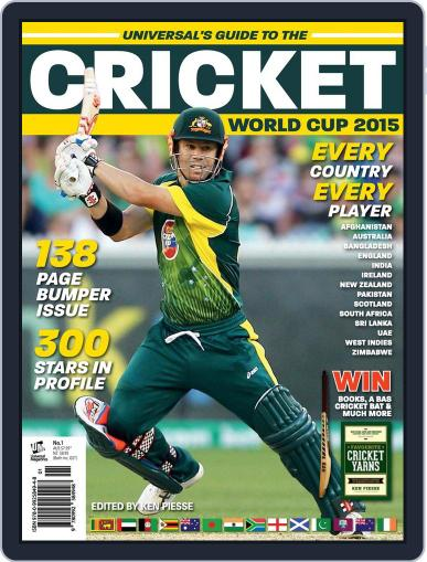 Cricket World Cup 2015 November 13th, 2014 Digital Back Issue Cover