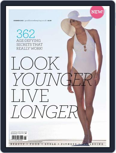 Good Housekeeping Look Younger Live Longer May 22nd, 2015 Digital Back Issue Cover