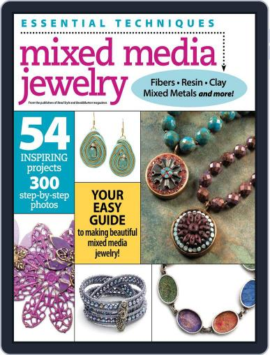 Essential Techniques: Mixed Media Jewelry August 7th, 2015 Digital Back Issue Cover