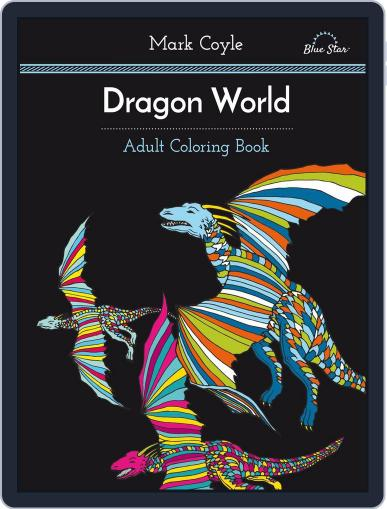 Adult Coloring Book: Dragon World July 1st, 2016 Digital Back Issue Cover