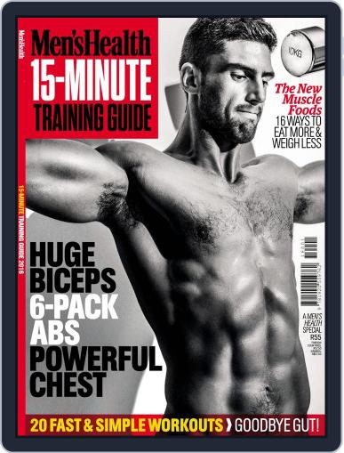 Men's Health 15 Min workouts September 30th, 2016 Digital Back Issue Cover