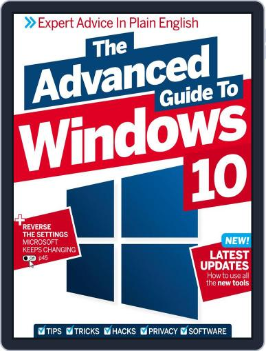 The Advanced Guide to Windows 10 September 30th, 2016 Digital Back Issue Cover