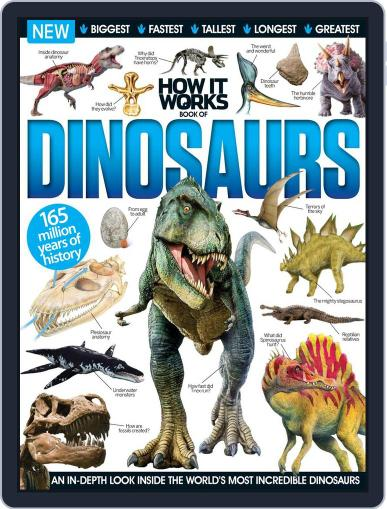 How It Works Book of Dinosaurs June 8th, 2016 Digital Back Issue Cover