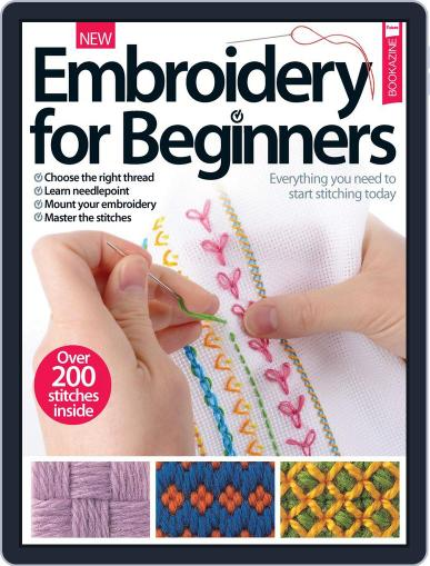 Embroidery For Beginners February 1st, 2017 Digital Back Issue Cover